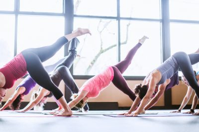 Yoga Students Show Static Stretching