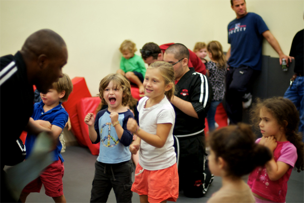 Kids Having Fun at Karate Party