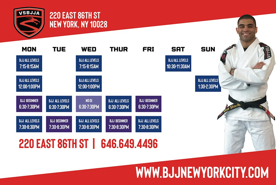 Upper East Side Class Schedule